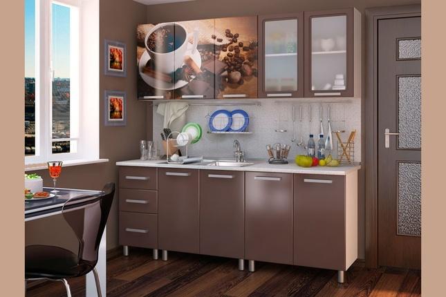 Кухня  Люкс Шоколад 2,0 м