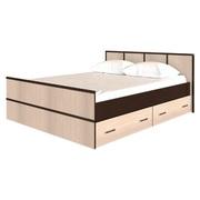 Кровать 1,6 м Сакура с 2-мя ящиками