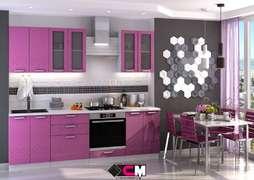 Модульная кухня Глория фиолет