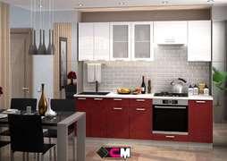 Модульная кухня Глория гранат