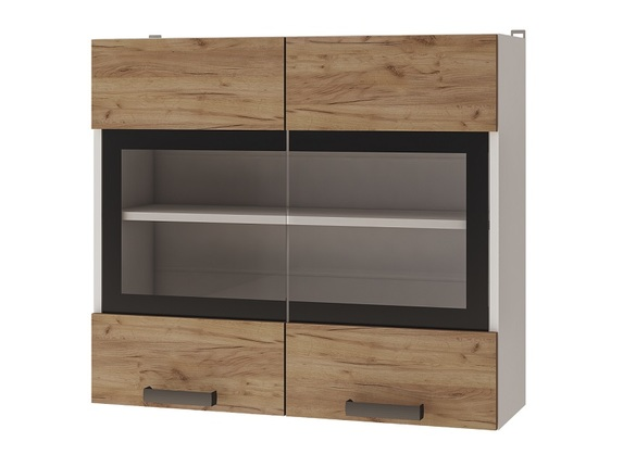 Шкаф настенный 2-дверный со стеклом 8В2 Крафт