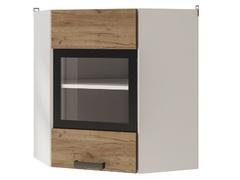 Шкаф настенный угловой со стеклом 6УВ2 Крафт