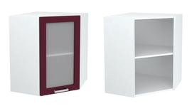 Шкаф верхний угловой со стеклом ШВУС 600 КР
