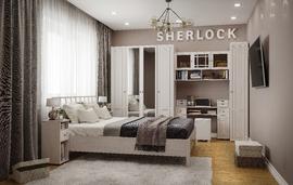 Спальний гарнитур Шерлок ясень анкор светлый