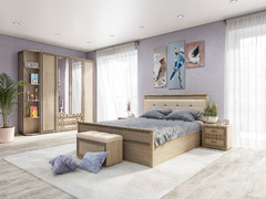 Спальный гарнитур Ливорно сонома