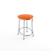 Табурет Лира хром оранжевый-843